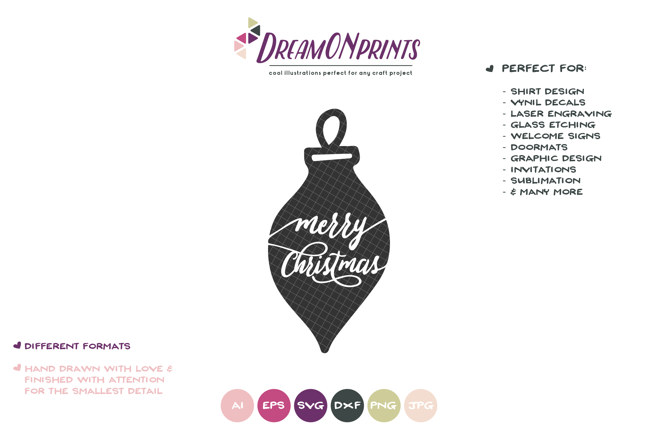 Merry Christmas | Christmas SVG | Pinecone example image 2