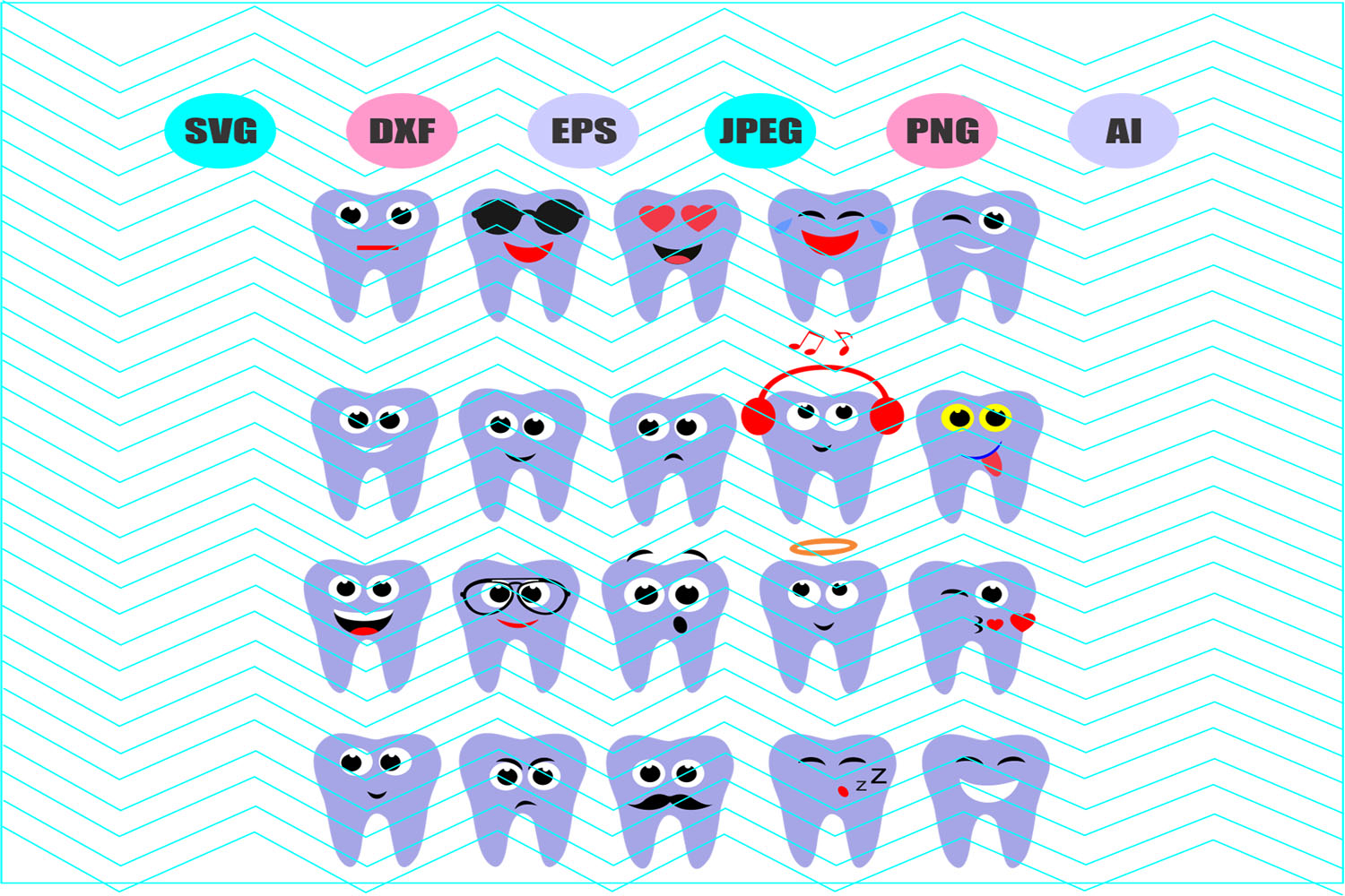 Tooth Fairy Svg Teeth Svg Svg Vector File Silhouette Cricut example image 1
