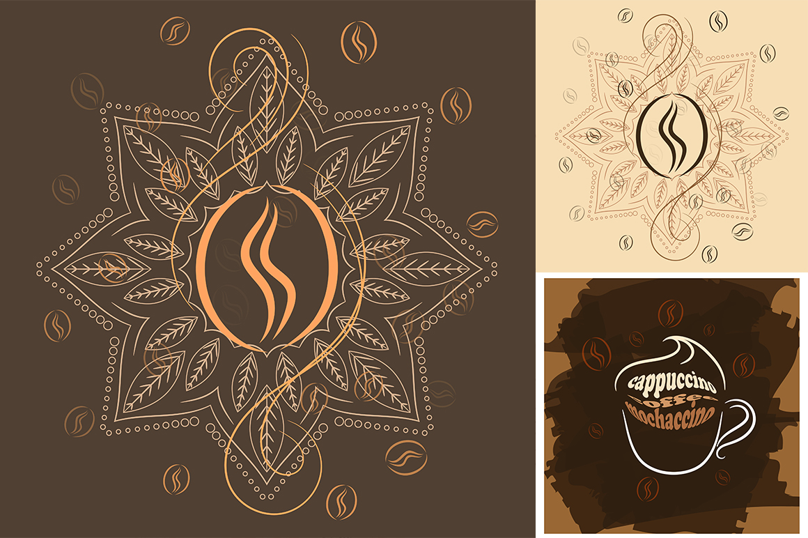 Coffee beans patterns example image 2
