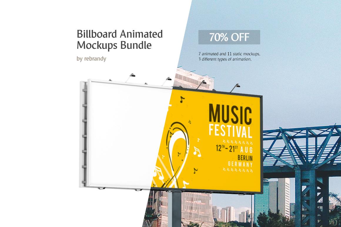 Billboard Animated Mockups Bundle example image 1