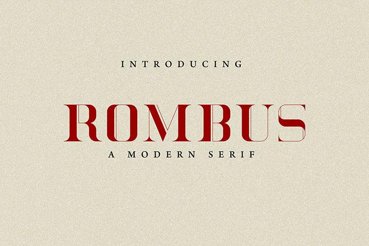 Rombus Modern Serif Font example image 2