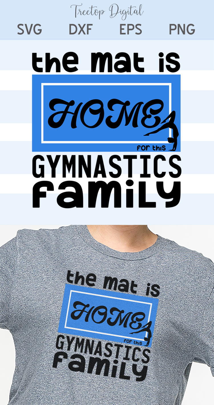 The Mat is Home for this Gymnastics Family, A Sports SVG, example image 4