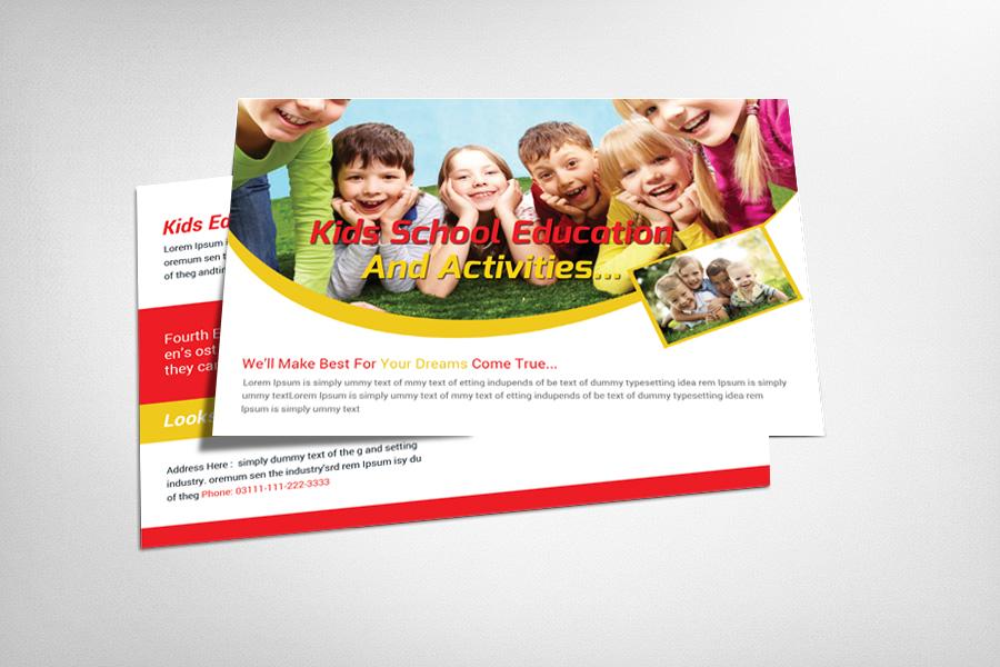 Kids School Education Postcard example image 1