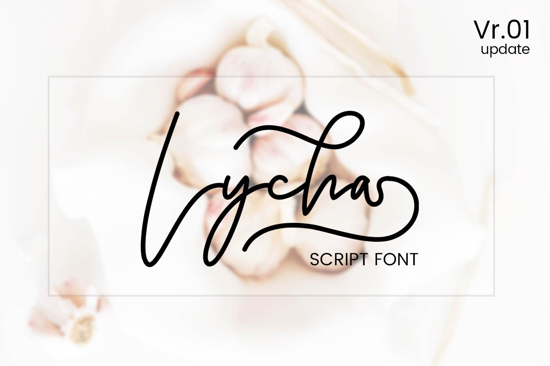 Lycha Font example image 3