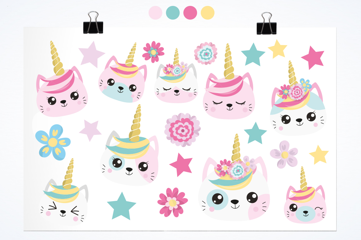 Kawaii Cats graphic and illustrations example image 2