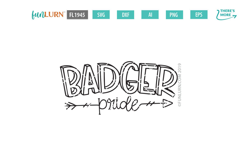 Badger Pride Team SVG Cut File example image 2