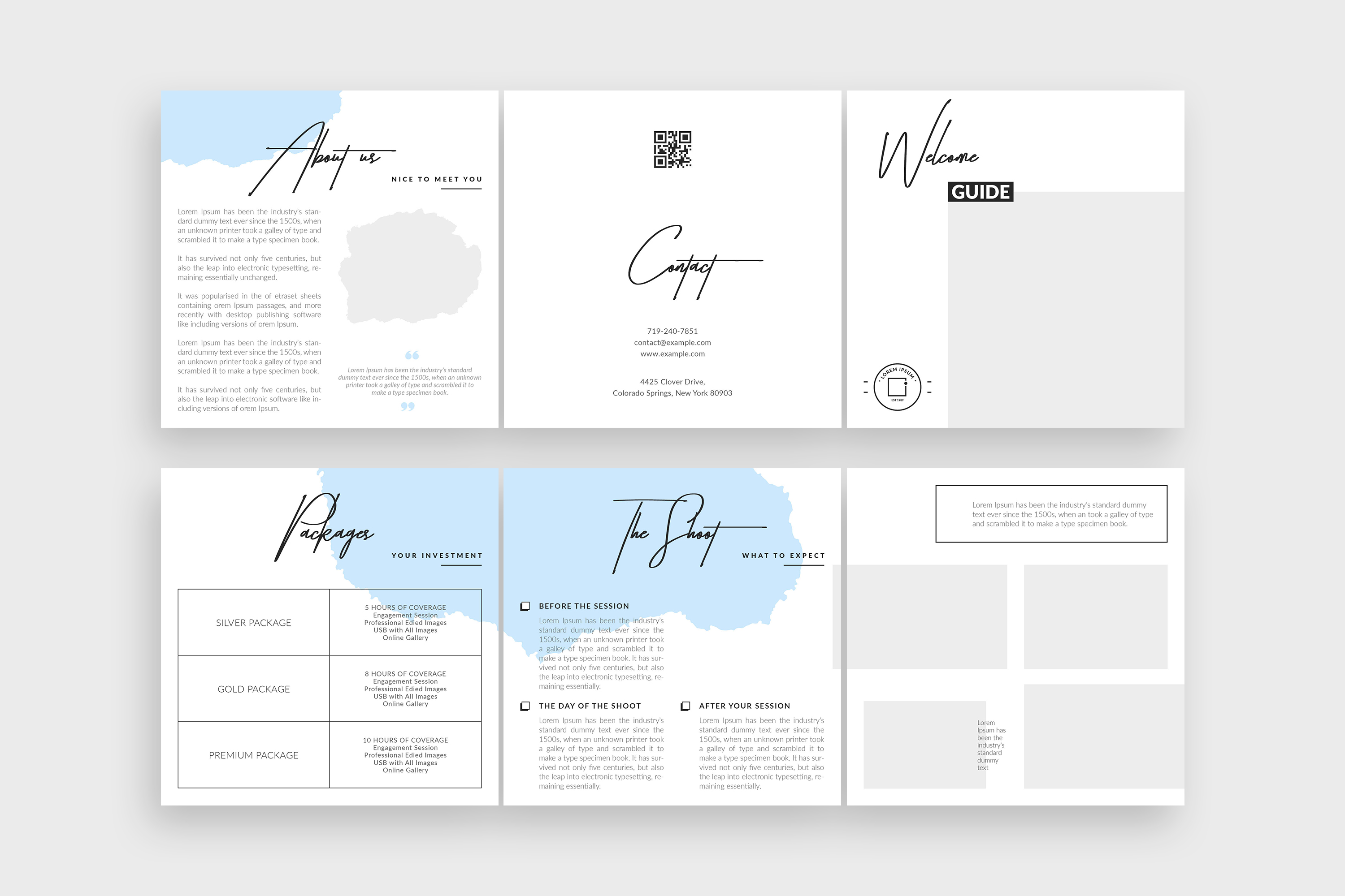 Photographer Square Tri-fold Brochure Template example image 8