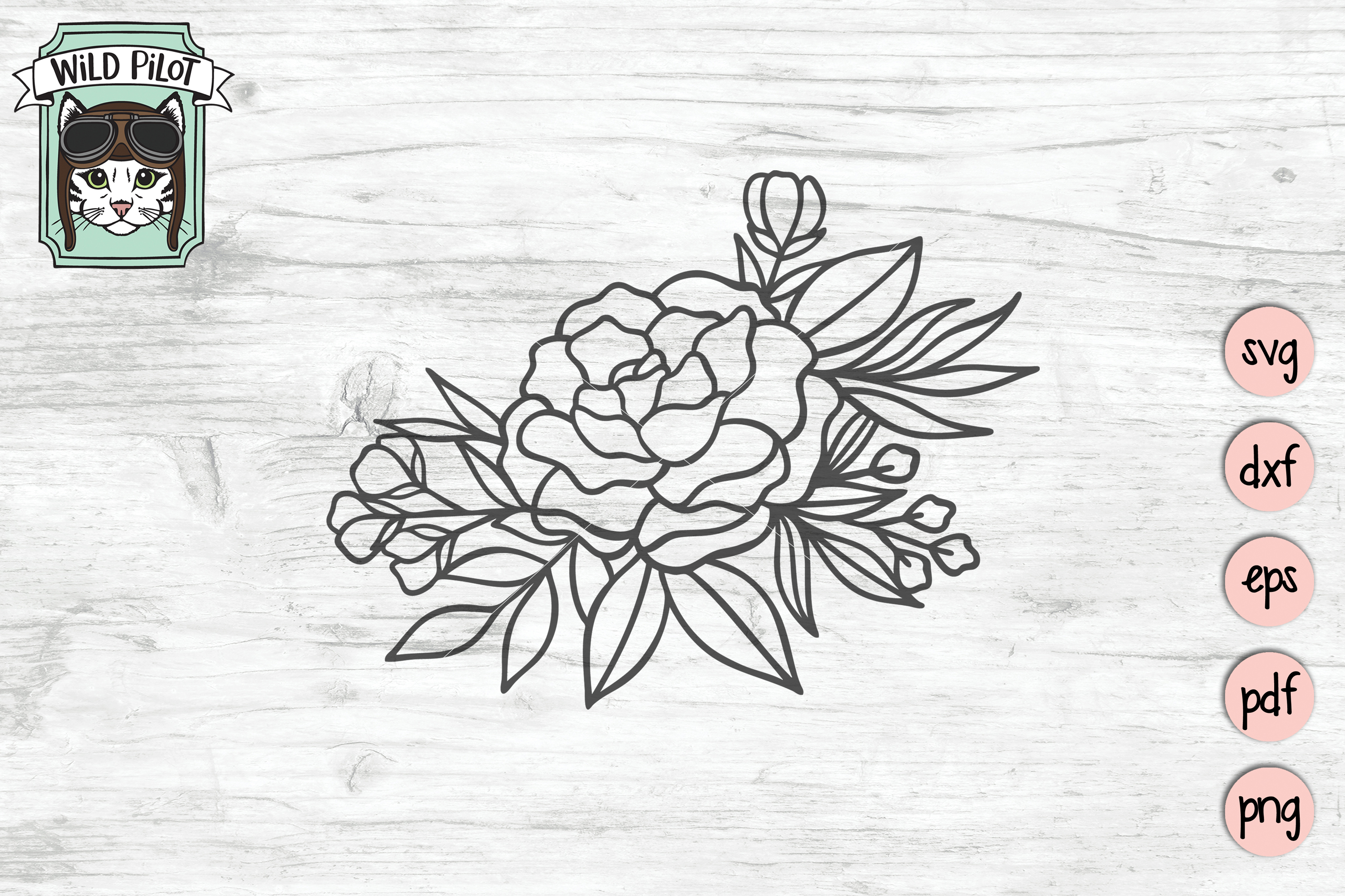 Flowers SVG file, Flower Border, Floral cut file, Roses example image 4