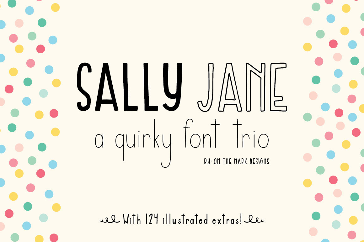 Sally Jane San Serif Font Trio example image 1