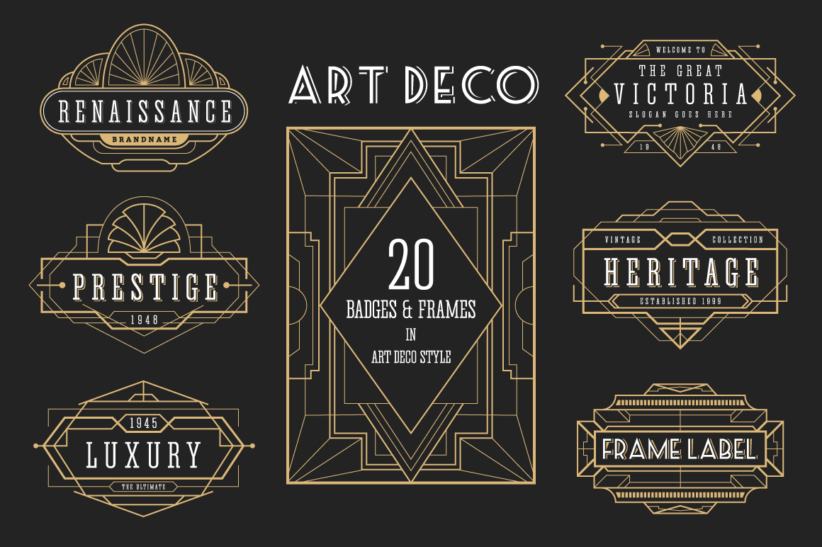 30 Line Art Badge & Frame Label example image 1
