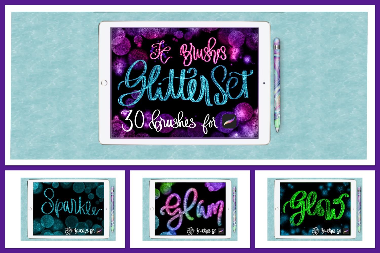 FC-glitter set 1 brushes for PROCREATE example image 1