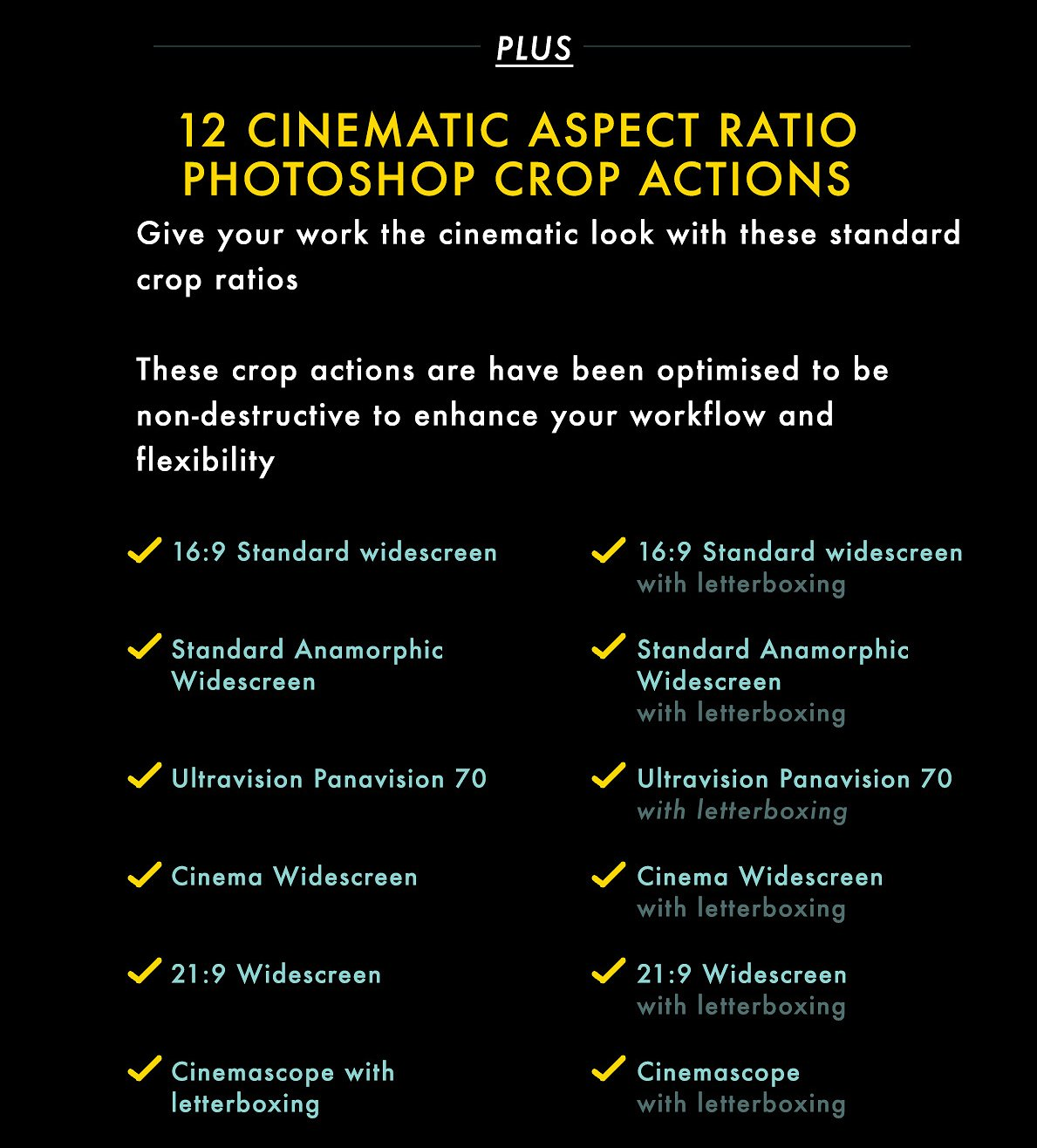 Cinematic Aspect Ratio PS Action & Lightroom Presets example image 2