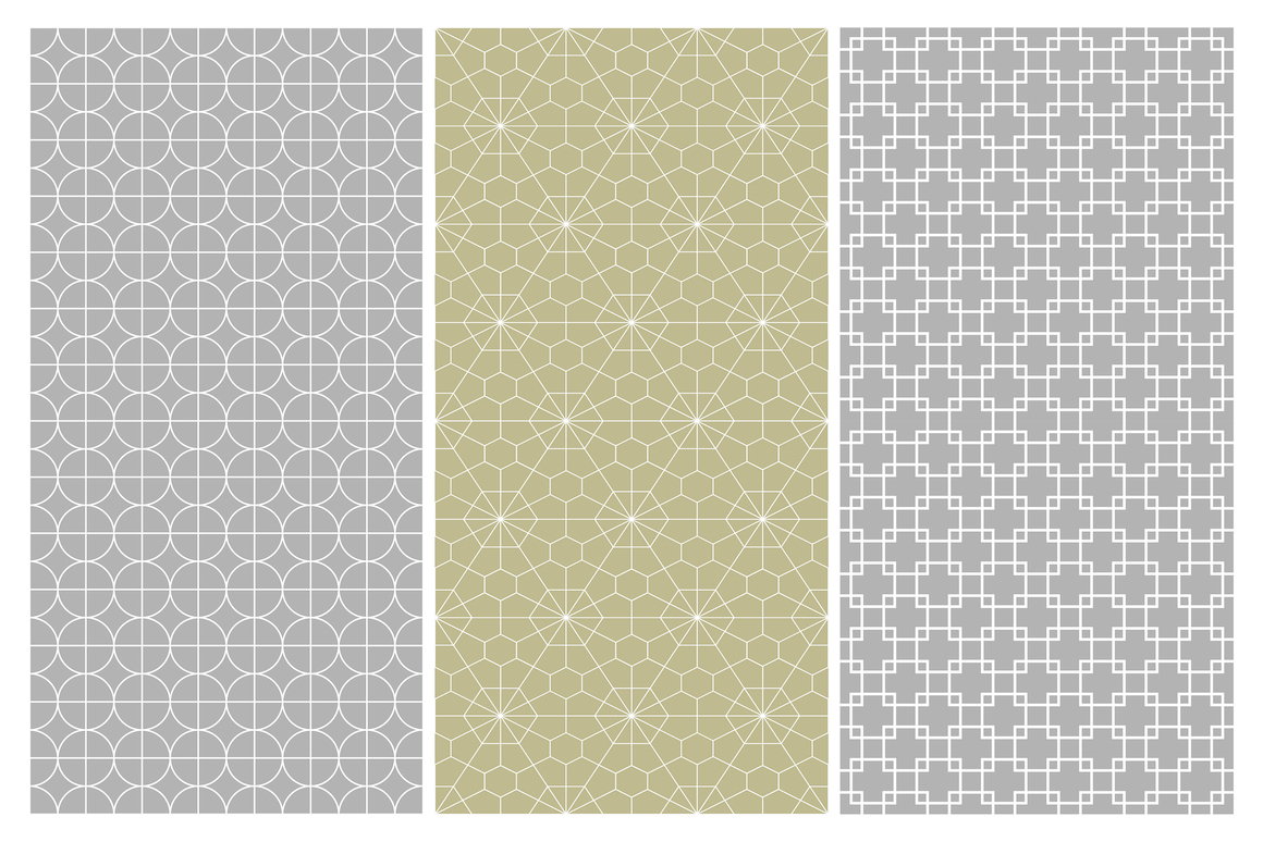 Geometric seamless symmetry patterns example image 7