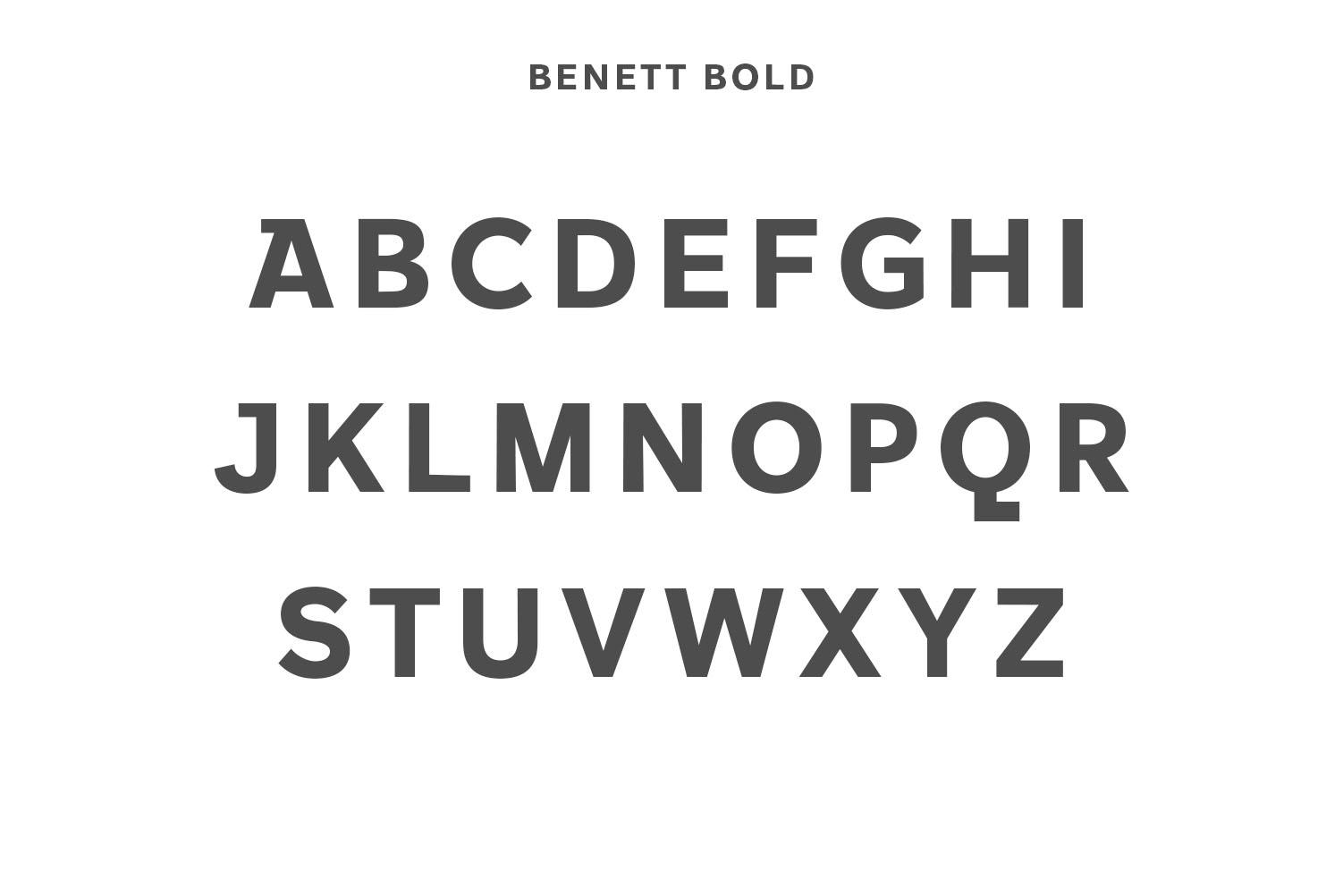 Benett Sans Serif Font Family example image 4