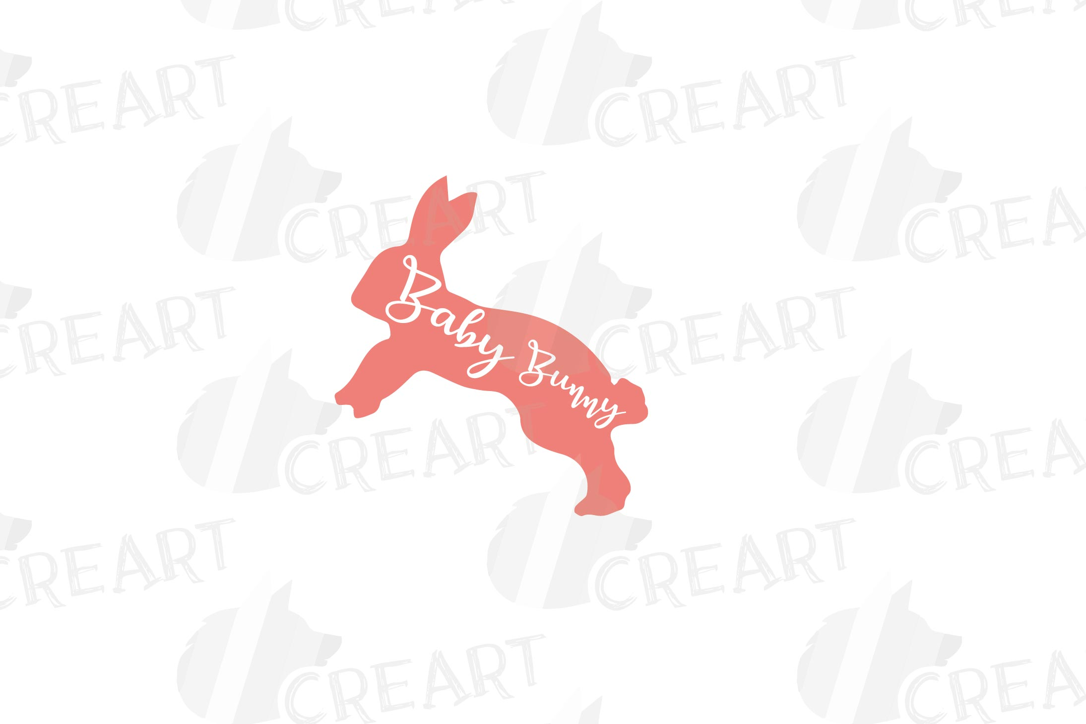 Rabbit family silhouettes, bunny silhouette svg cutting file example image 18