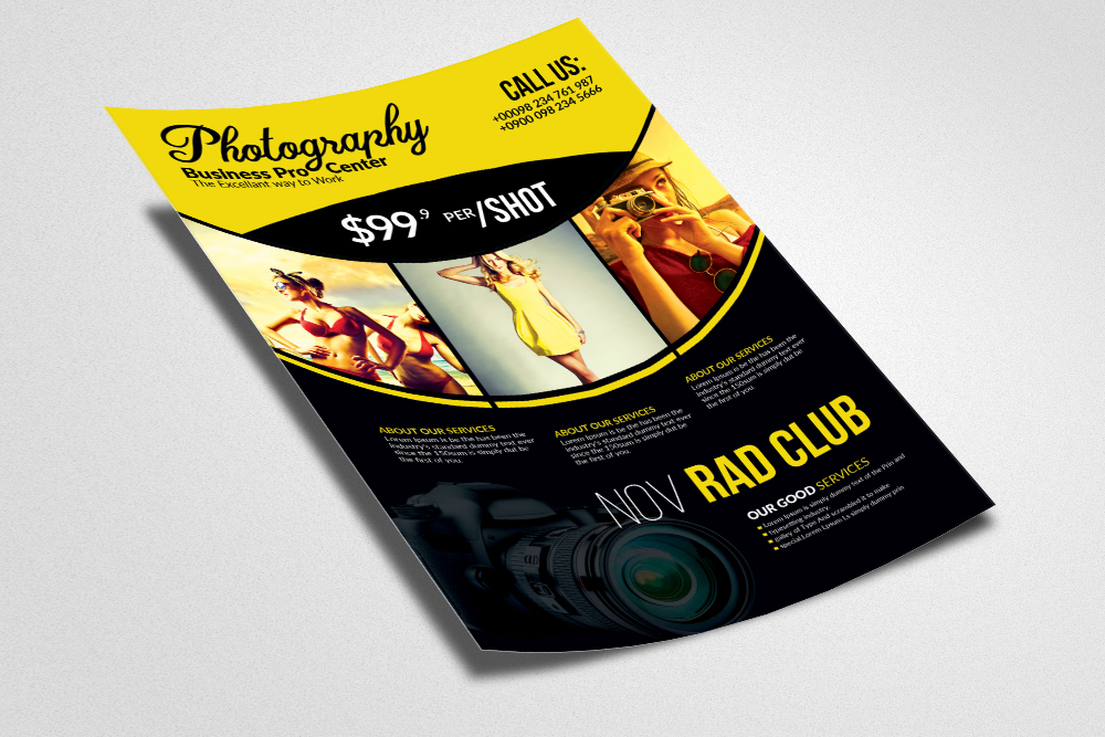 Professional Photography Flyer Template example image 3