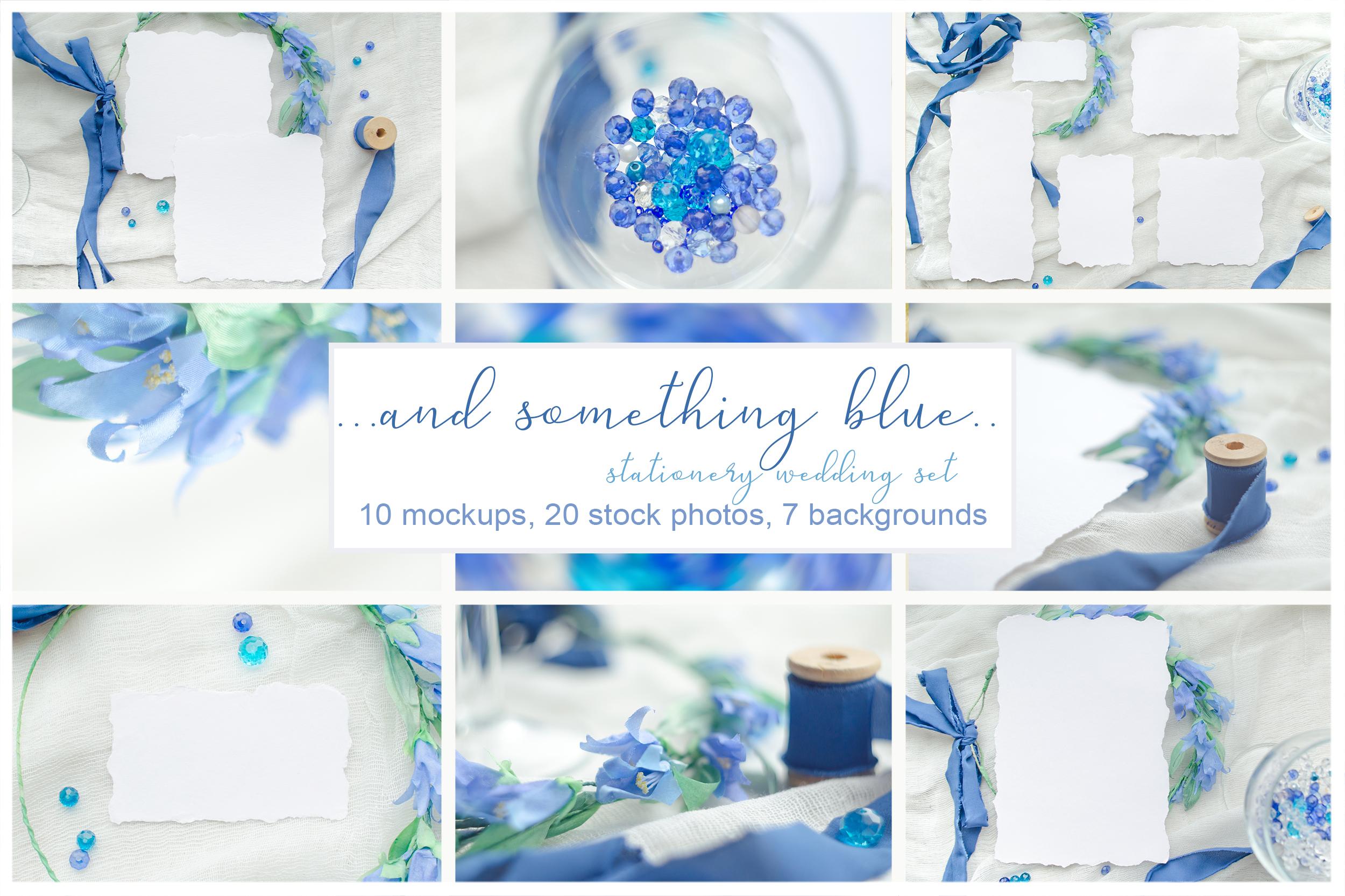 Something blue. Wedding mockups & stock photo bundle example image 1