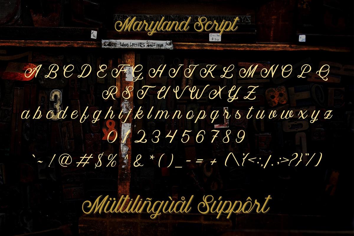 Maryland | Classy Font example image 3