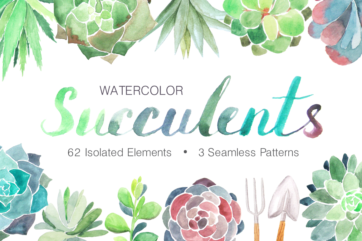 Summer Watercolor Floral BUNDLE example image 27