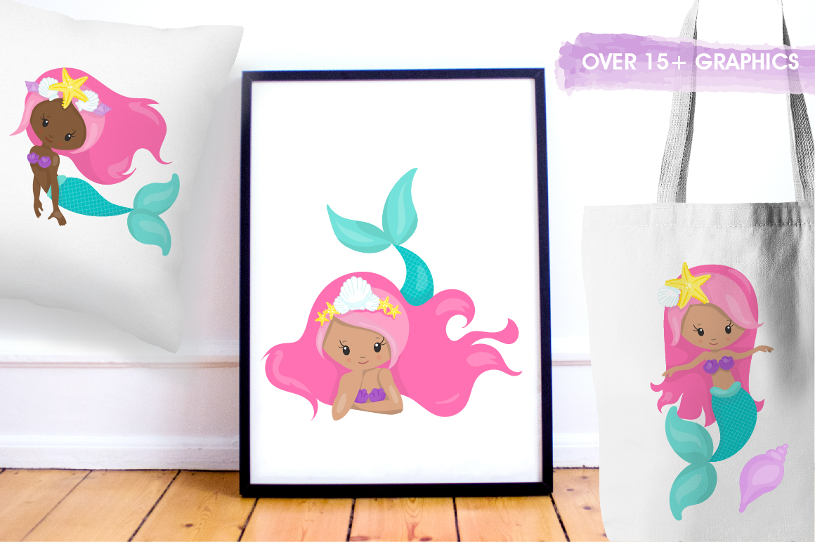 Mermaid Squad graphic and illustrations example image 3