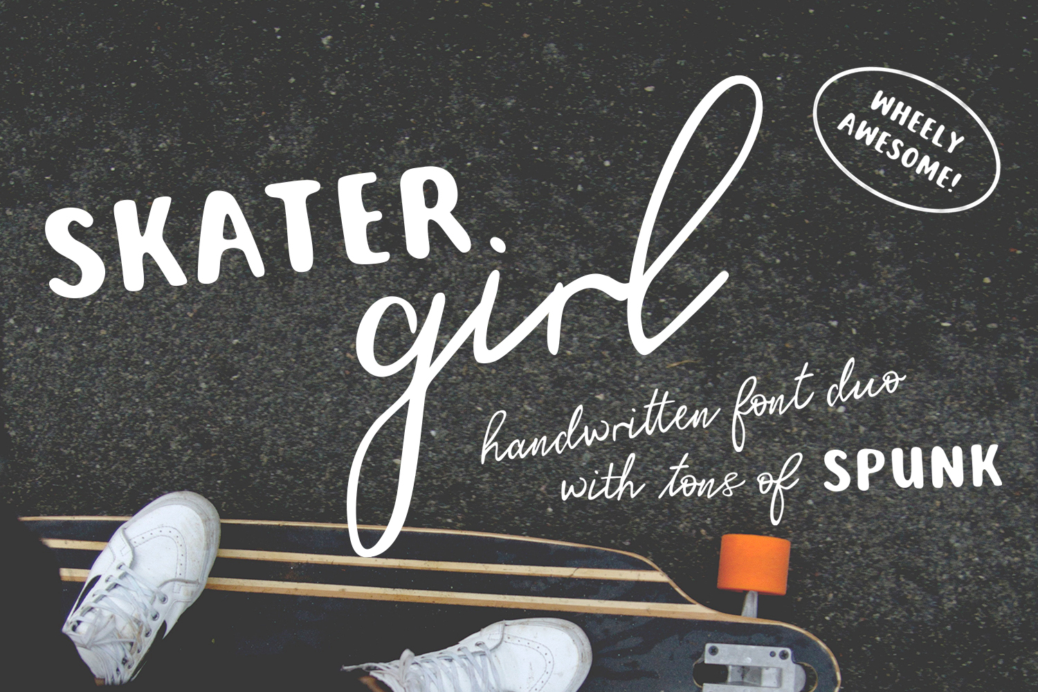 Skater Girl Font Duo example image 1