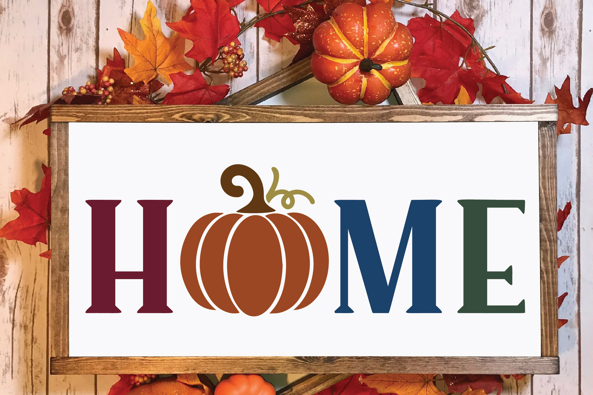 Home SVG Cut File - Fall Pumpkin SVG example image 2