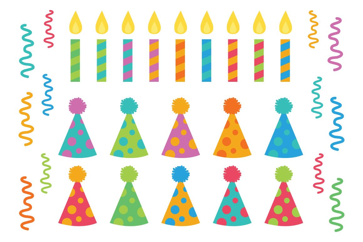 Happy Birthday Party Clip Art Set example image 5