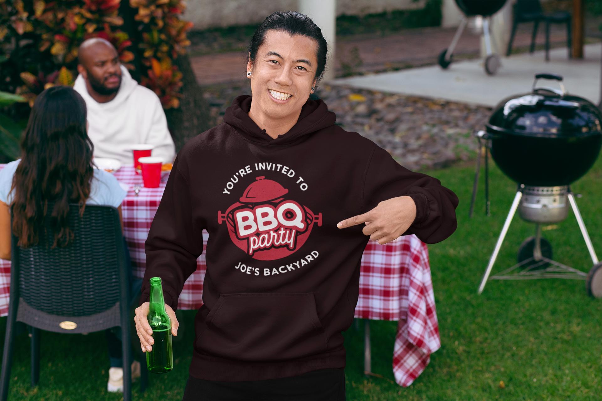 BBQ Party Logo Design TShirt. Retro Vector SVG Cut File example image 6