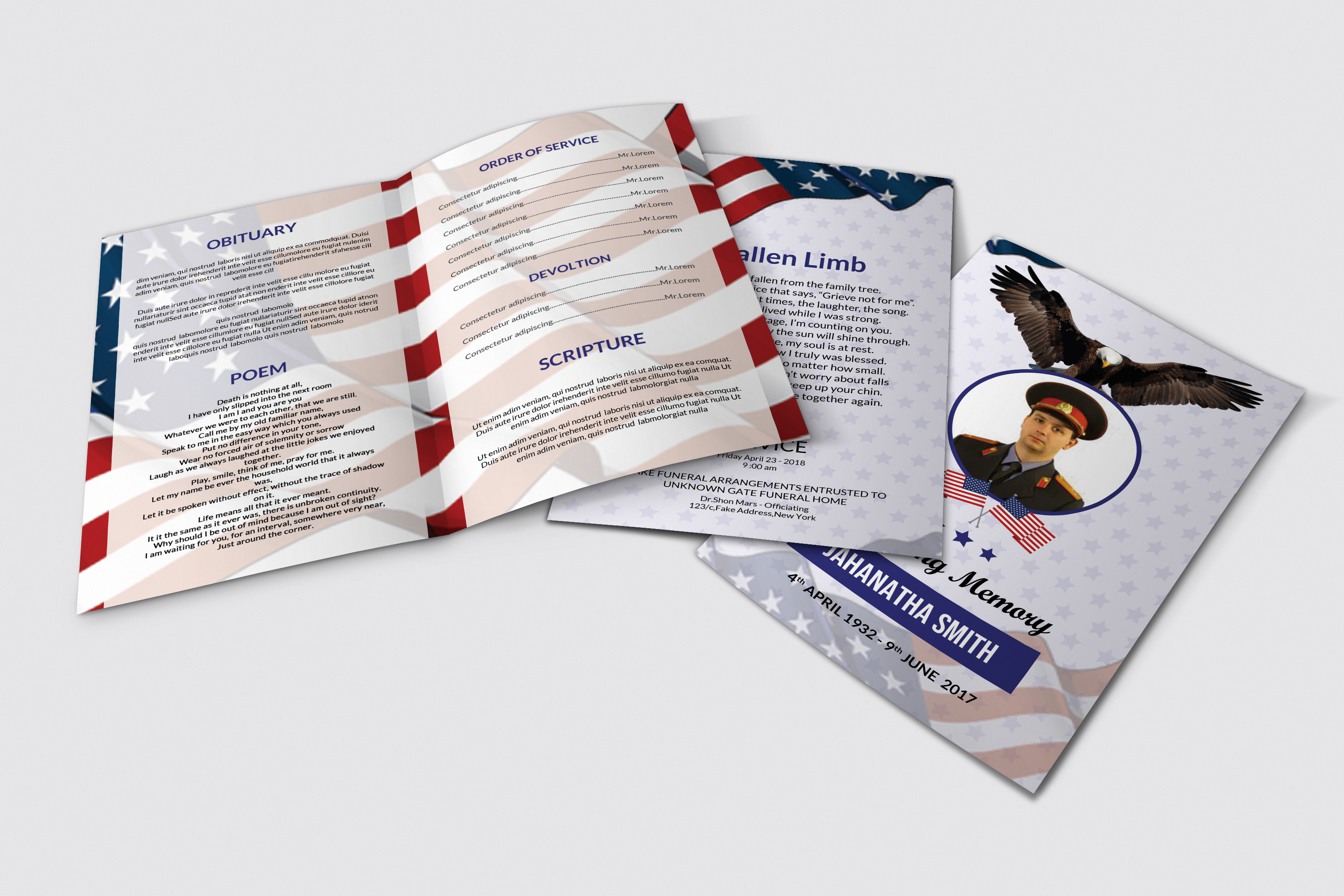 Funeral Program Template Military Army example image 2