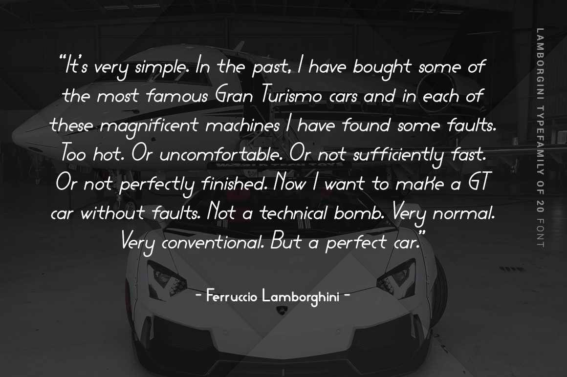 Lamborgini - 20 Fonts Included example image 5