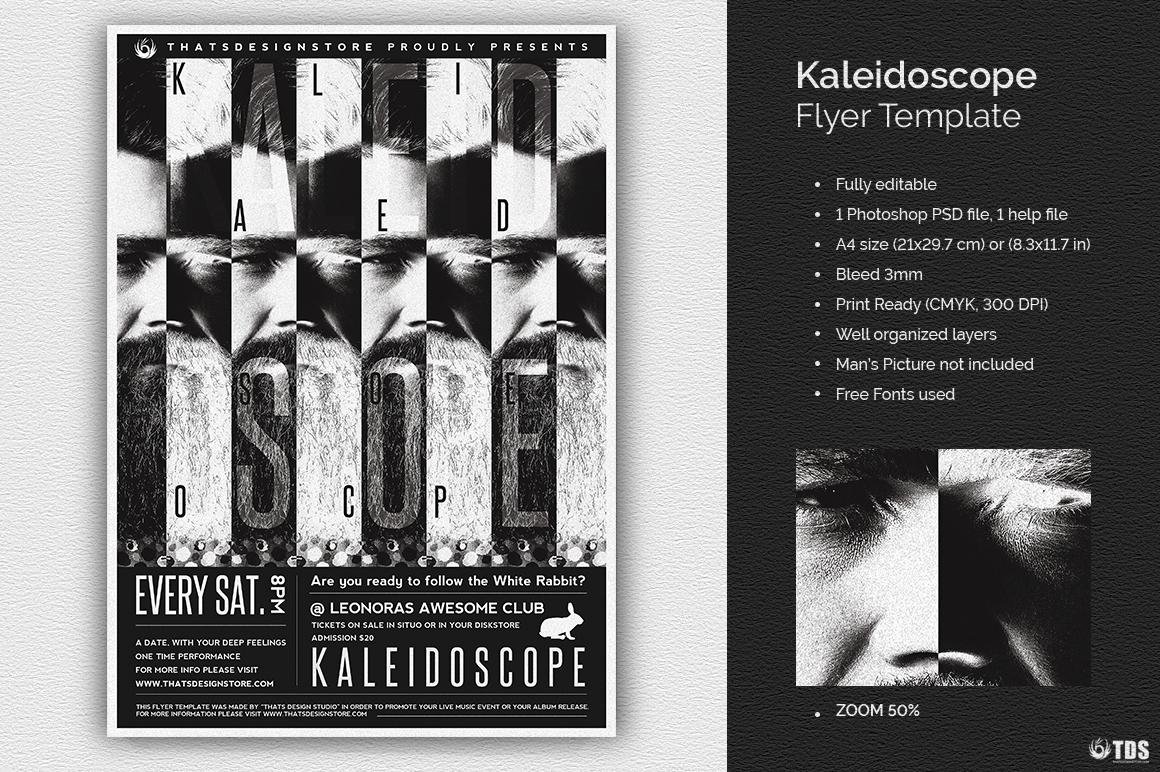 Kaleidoscope Flyer Template example image 1