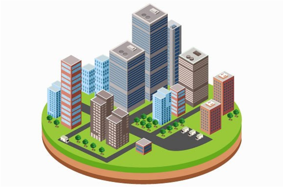A business isometric city downtown example image 3
