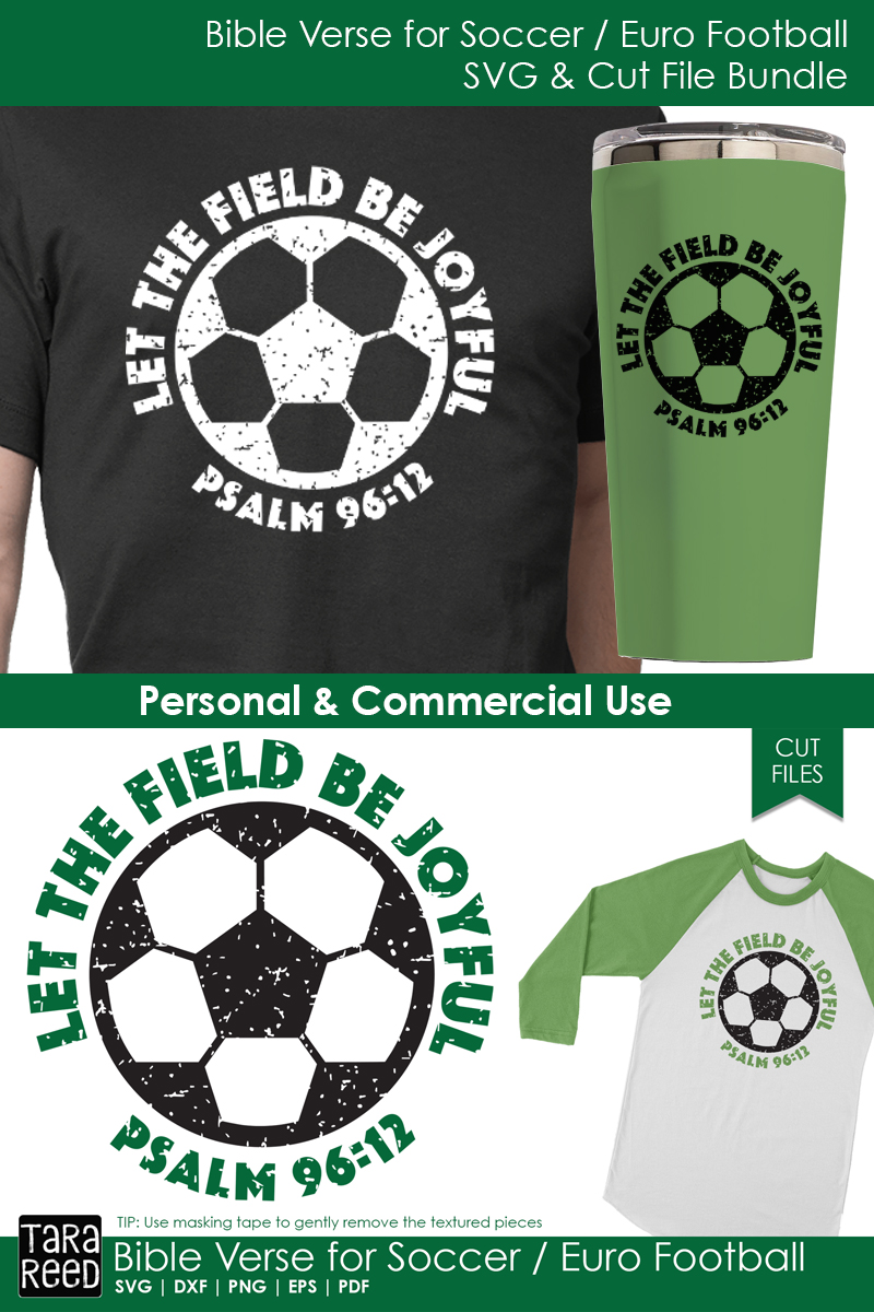 Bible Verse for Soccer / Euro Football - SVG and Cut Files example image 2