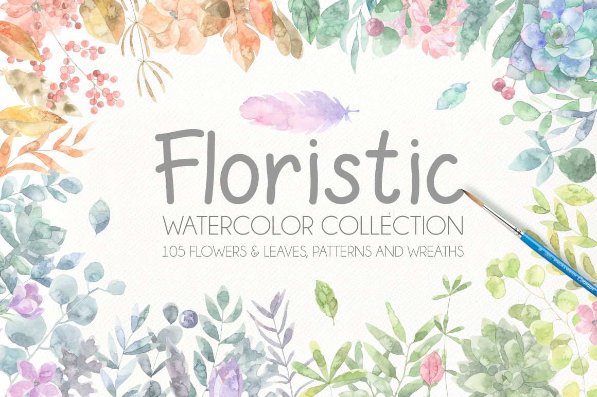 Floristic Watercolor Collection example image 1