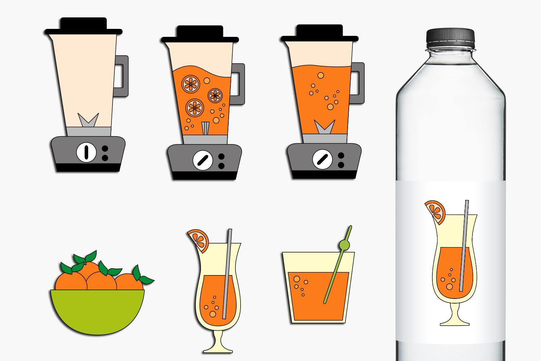 Blender and Orange Juice Clip Art Illustrations example image 1