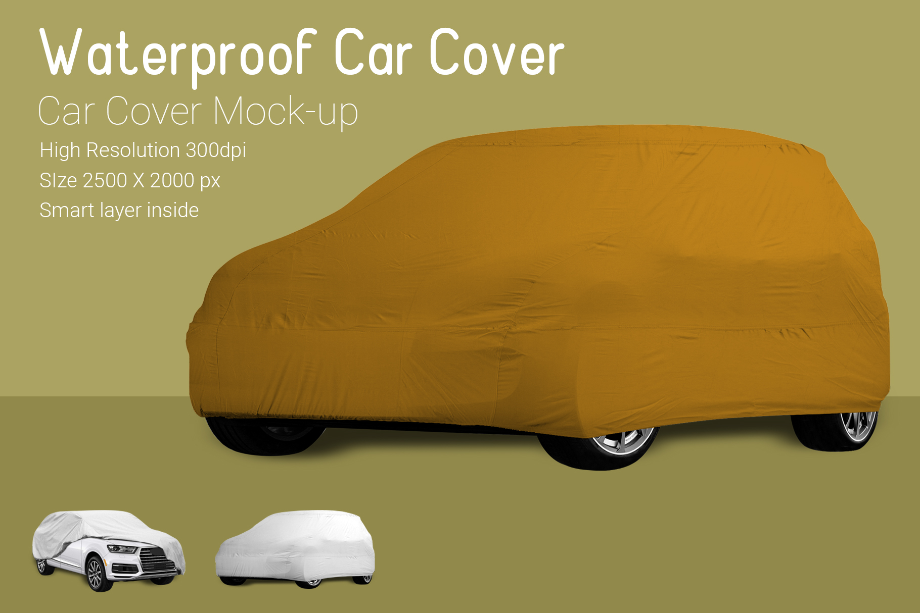 Car Cover Mock-Up example image 4