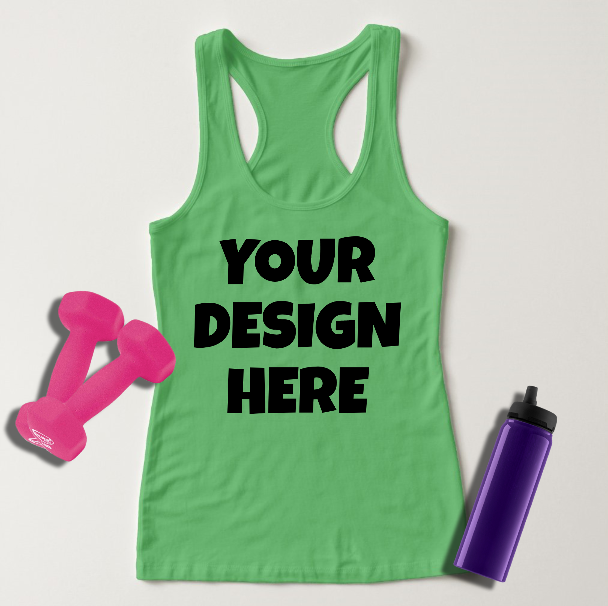 Ladies Tank Top Mockups - 20|Front/Back|PNG example image 5