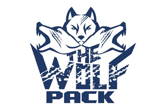 Wolf Pack Grunge Retro example image 1