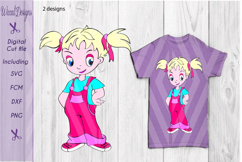 Little Girl svg, character girl svg, Farm girl svg, Vinyl cut file, Sassy girl svg,  example image 1