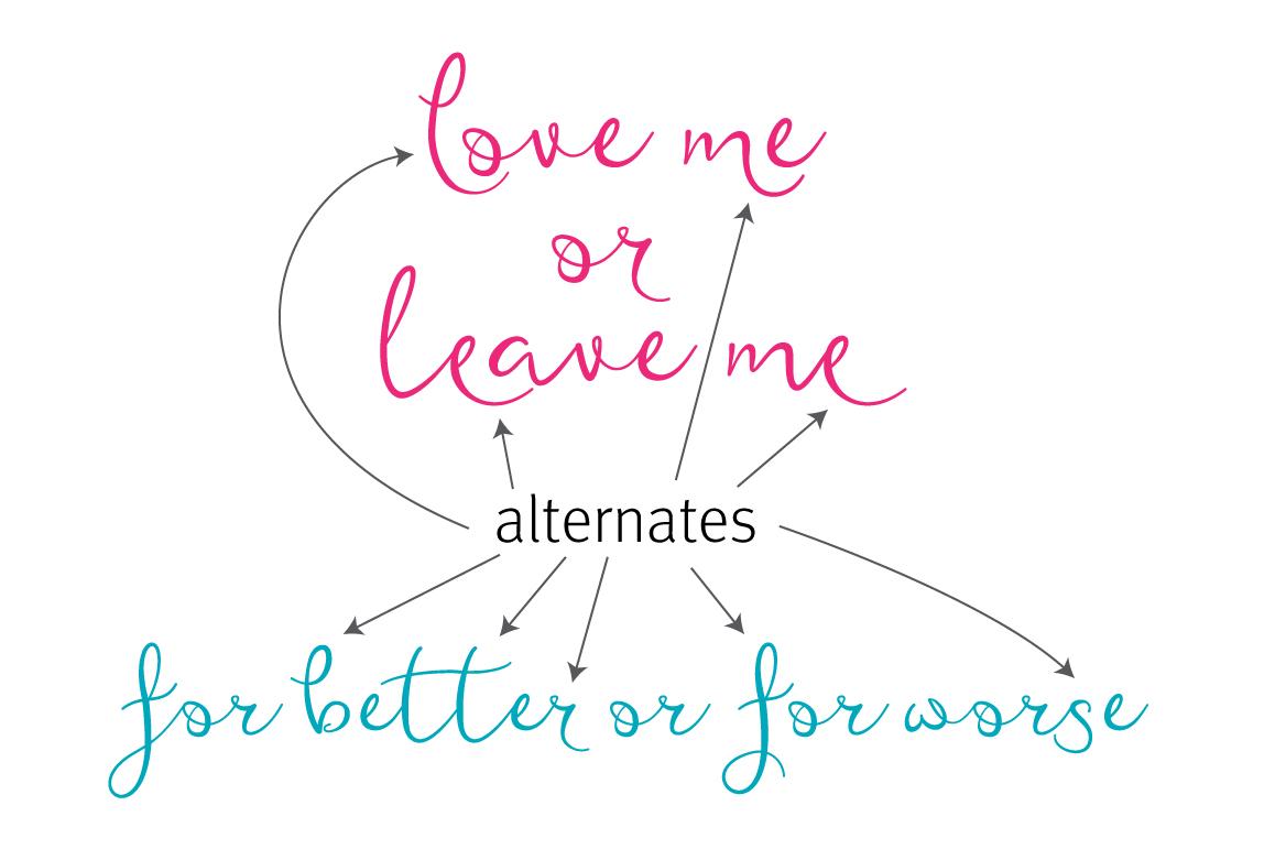 Featherly Bold Font - wedding font example image 6