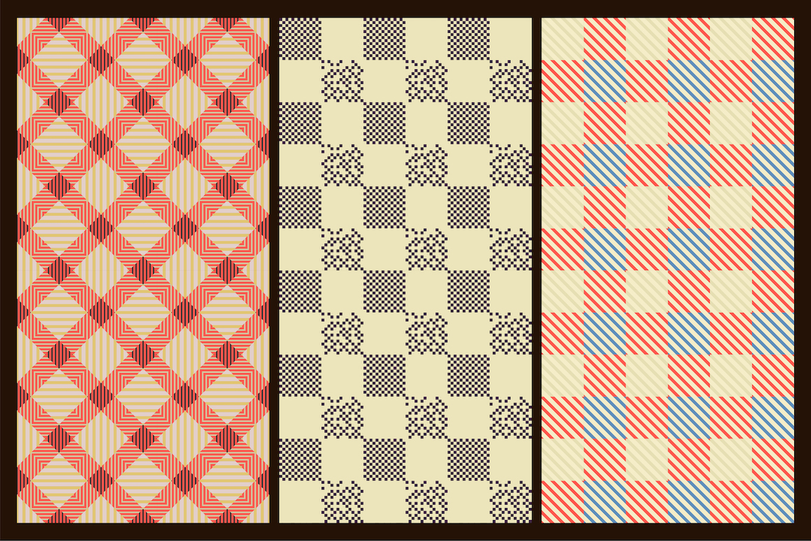 Colorful seamless textile patterns example image 7