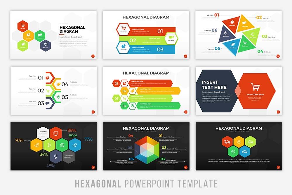 Hexagonal Powerpoint Tempalte example image 3