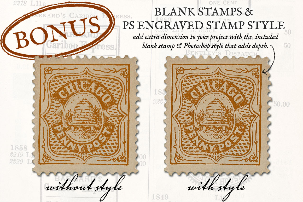 Antique US Stamp Graphics example image 3