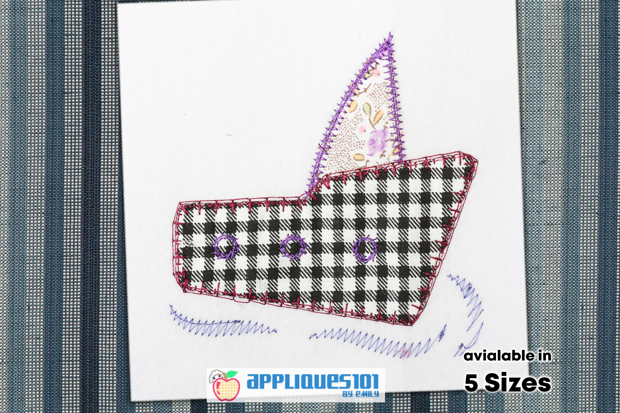 Yacht Embroidery Applique Design - Yachts example image 1