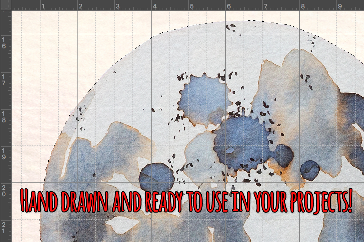 14 Moon Phases Watercolor Graphic Elements example image 3