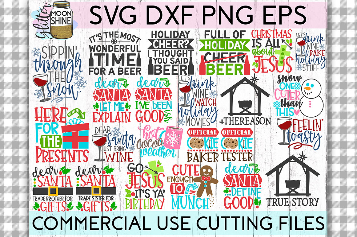 Giant Christmas Bundle of 58 SVG DXF PNG EPS Cutting Files example image 4