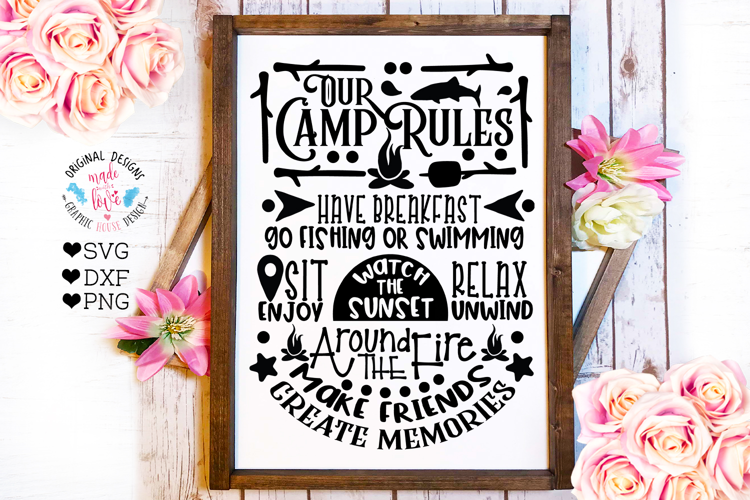 Home and Summer Decor Rules Cut File Bundle example image 4