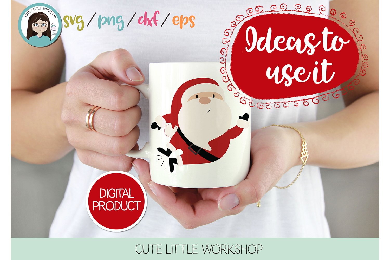 Santa Claus Jumping svg, dxf, png, eps example image 1