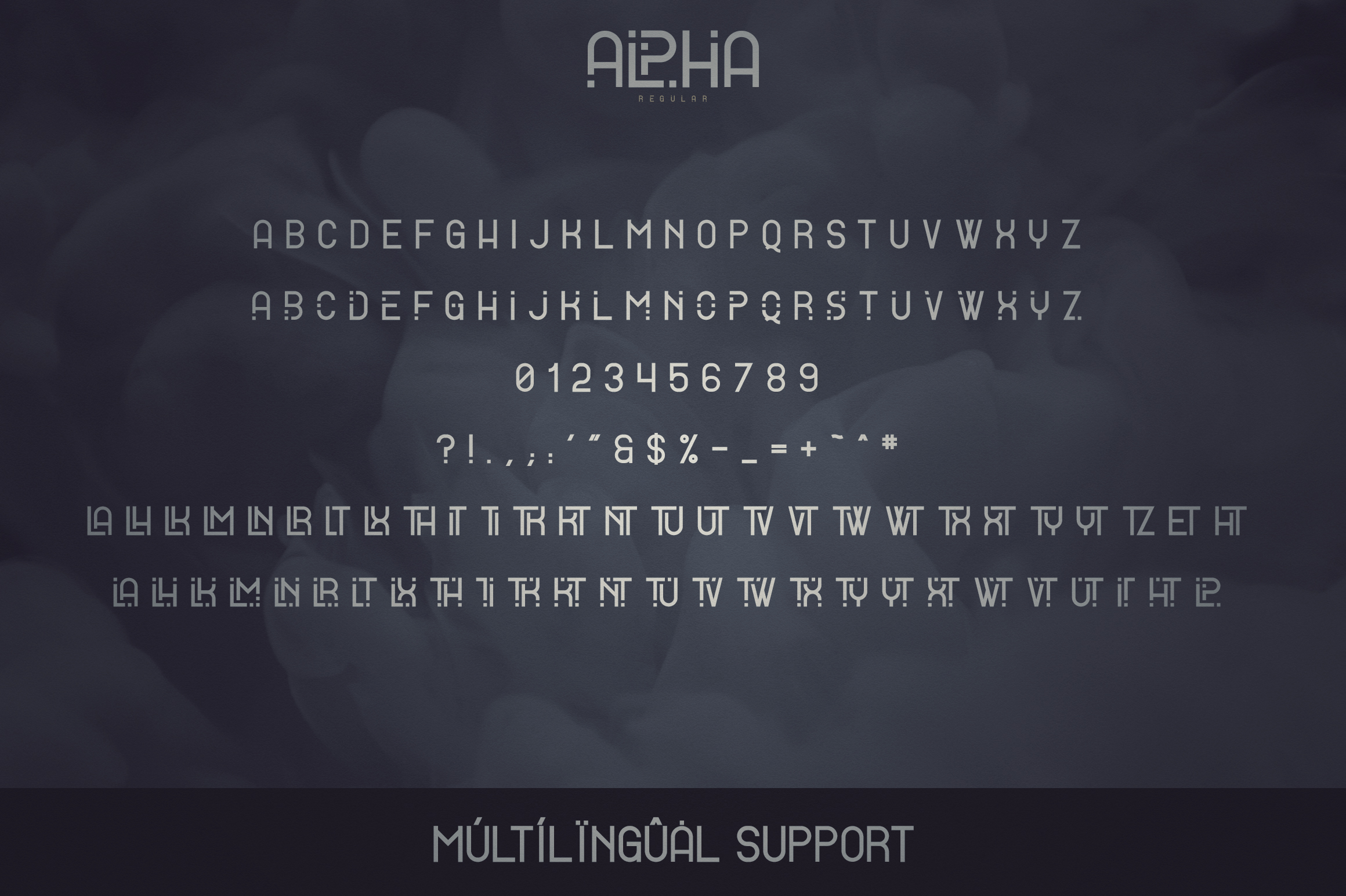 Alpha Display Font - 4 styles example image 9