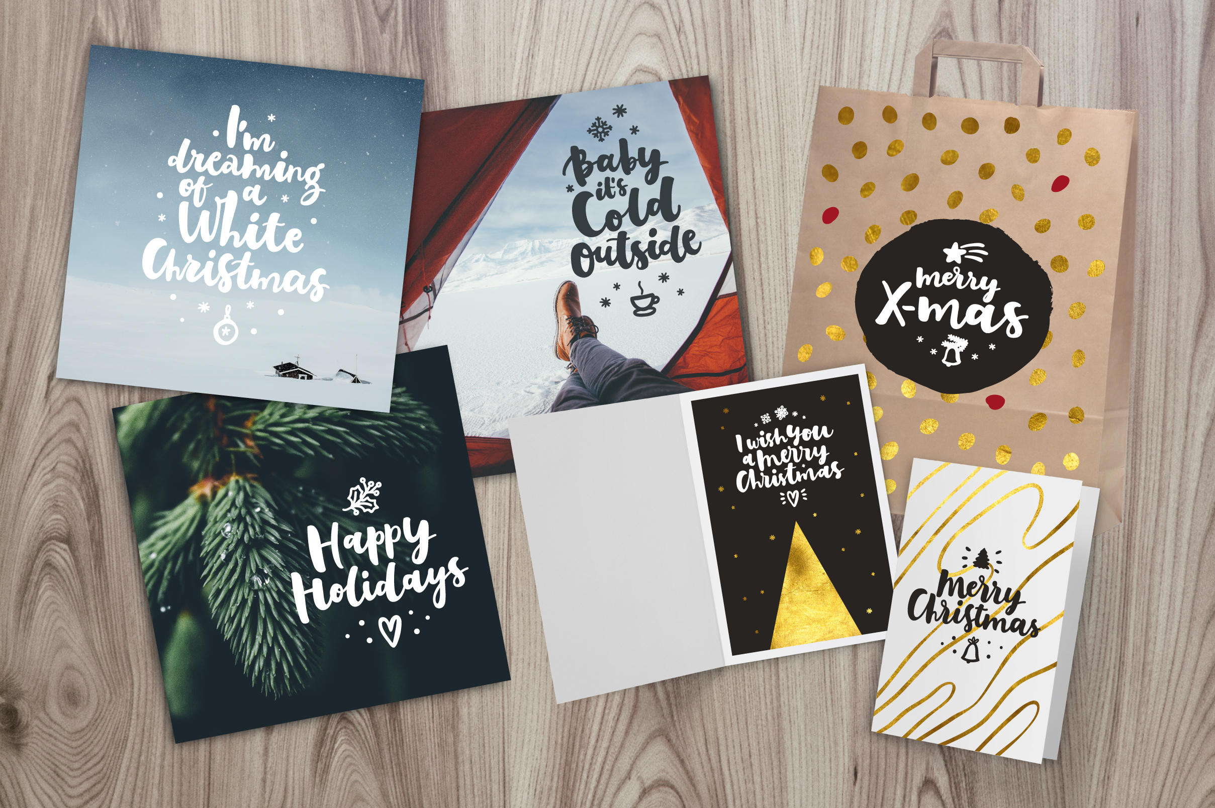 Merry Christmas Vector Set example image 5